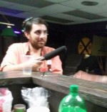 Brian Reed interviewing at the bar at Black Sheep