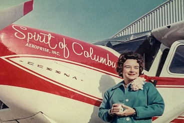 Jerrie Mock and her plane